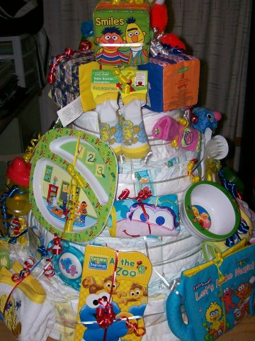 to my world sesame street diaper cake for my daughter 39 s baby shower