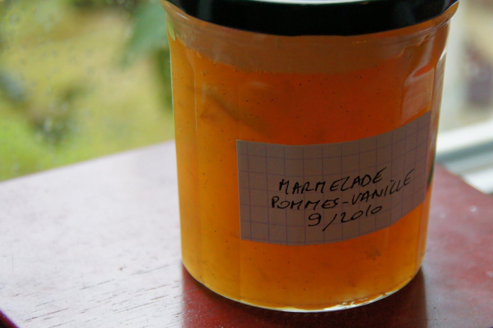 Mon vieux livre de cuisine marmelade de pommes la vanille for Vieux livre de cuisine