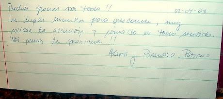 Comentario de Alexis y Brenda (Rosario)