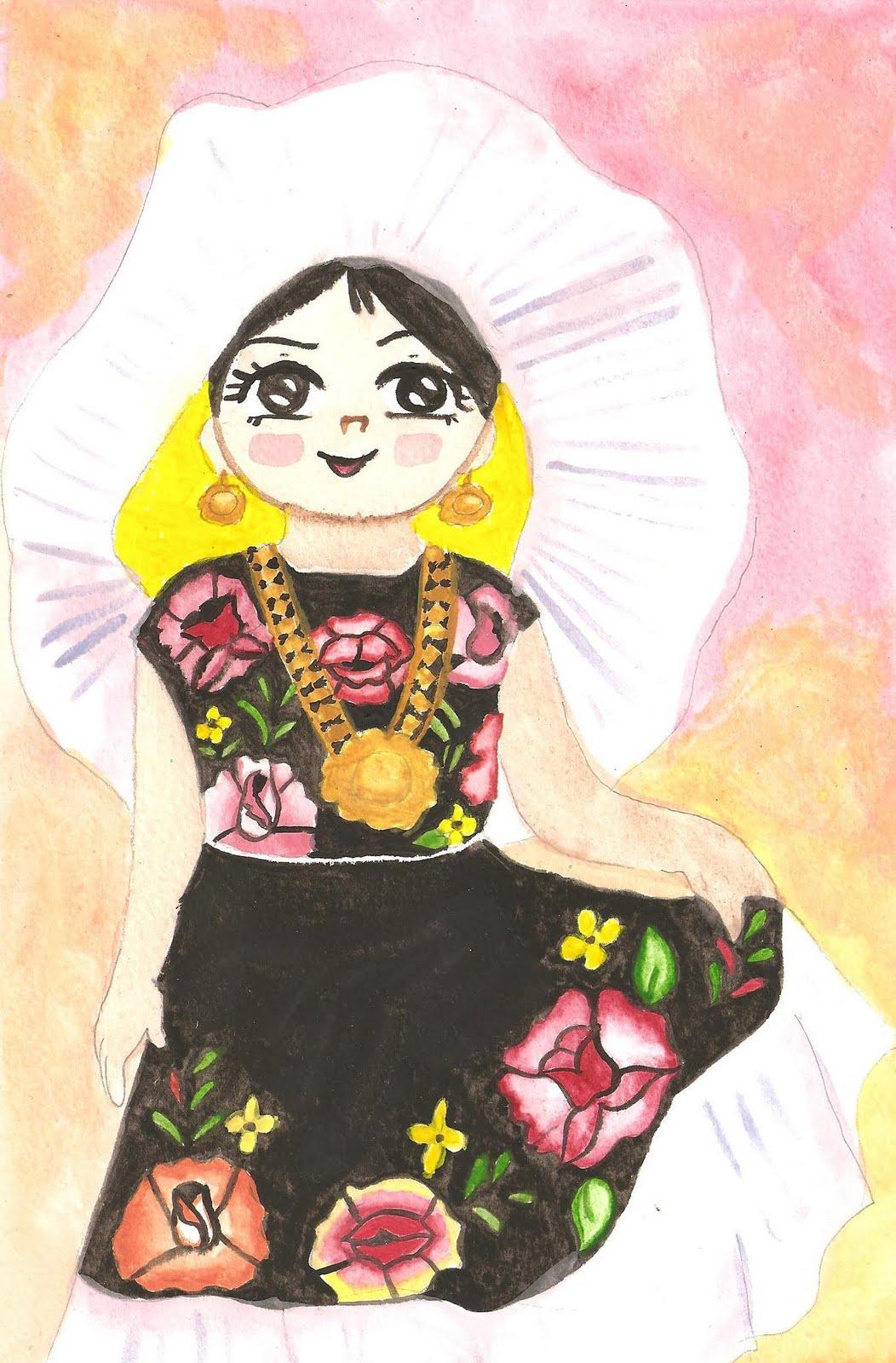 Dibujos De Trajes Tipicos De Mexico