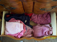 Organizing the kids' clothes