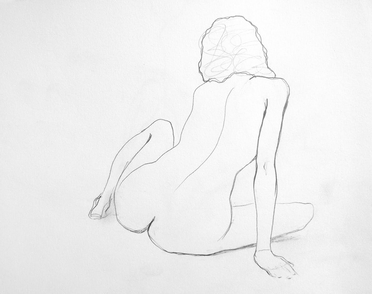 Pencil drawing of naked sex hentai scene