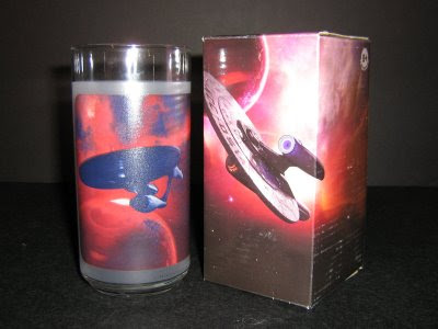 Back of Uhura's glass and box, ship is the Kelvin