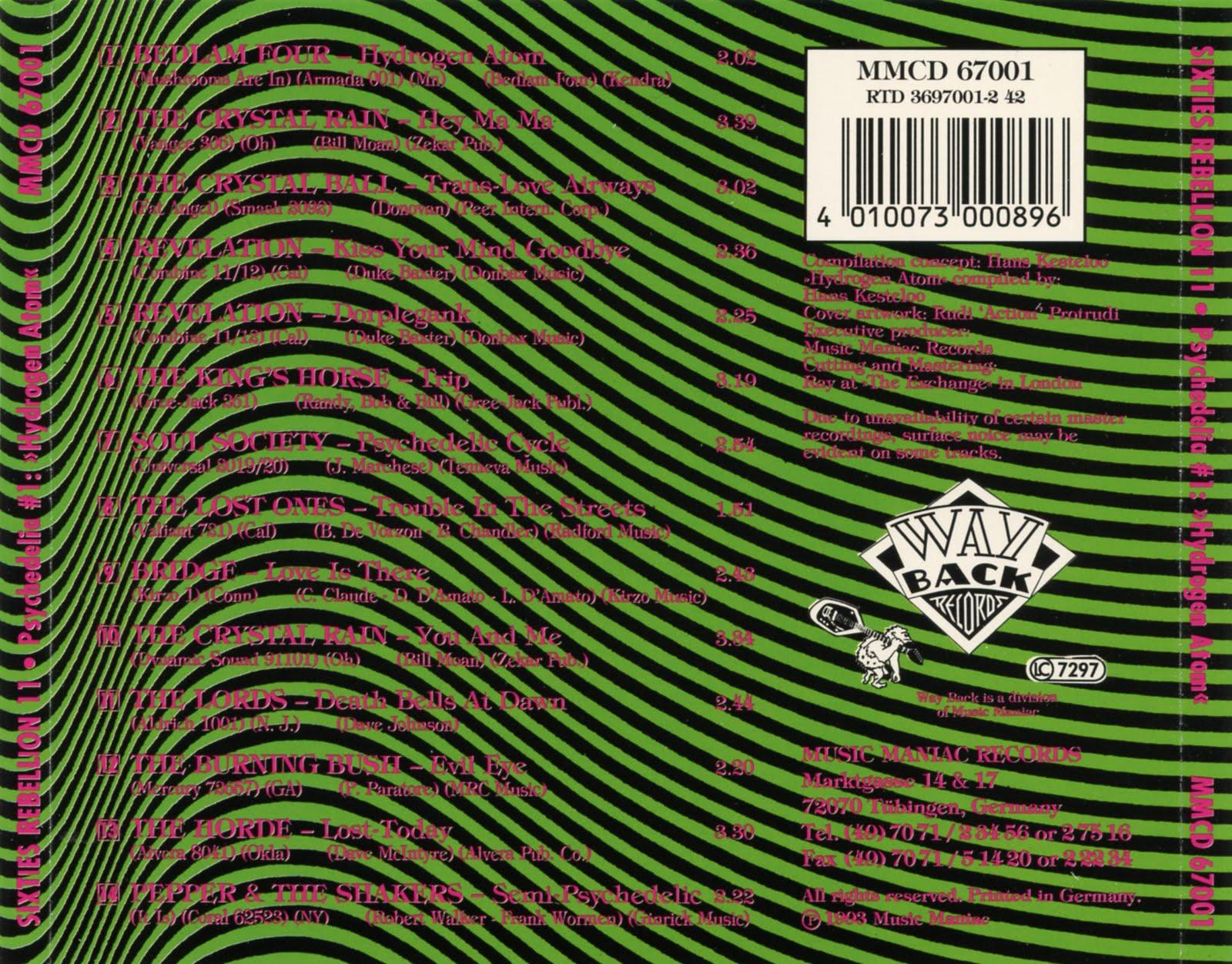 Power Pop Lovers Sixties Rebellion Vol 11 Psychedelic