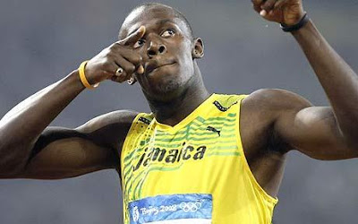 Usain Bolt gold medals in Beijing fastest man