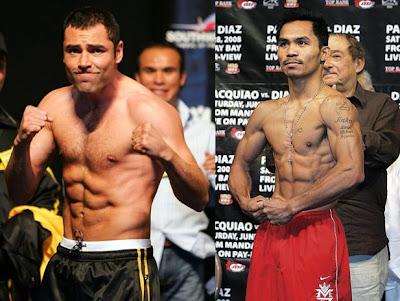 Oscar De la Hoya fight Manny Pacquiao