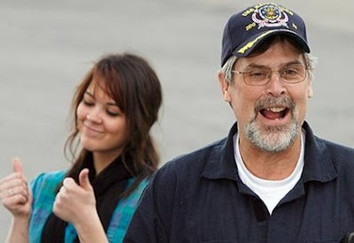 Mariah Phillips two thumbs up pictures along with his father Captain Richard Phillips