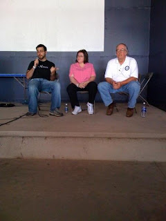 Will, Margaret, and Rich doing Q&A during a Google Lunar X PRIZE panel at EAA AirVenture 2008. Photo Credit: D. Trujillo, X PRIZE Foundation