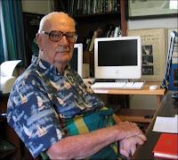 Arthur C.Clarke à Colombo en 2005. Document Wikipedia.
