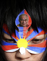 Manifestant tibétain à Bruxelles le 19 mars 2008.