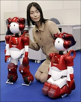 Le robot EMIEW 2. Document Hitachi.