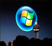 Présentation de Windows Vista dans l'environnement Macintosh. Document Engadget.