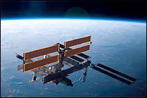 La station ISS dans son état actuel. Elle devrait être totalement assemblée en 2010, date à laquelle les navettes seront également déclassées.