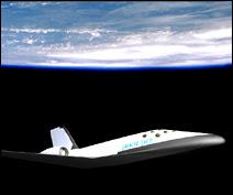 L'avion-fusée imaginé par Galactic Suite.