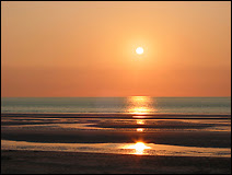 Coucher de Soleil à La panne, un soir de l'été 2006. Document T.Lombry.