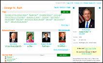 Profil du Président George W. Bush sur spock.com.