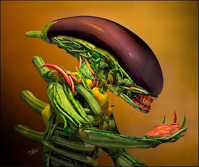 La salade d'Alien élaborée en images de synthèse par Till Nowak.