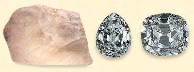 Le Cullinan découvert en 1905 fut clivé en plus de 9 diamants de plusieurs centaines de carats.