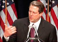 Al Gore durant l'une de ses conférences à l'Université de New York.
