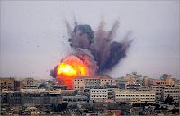 Bombardement sur Gaza.