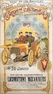 Affiche du Salon de l'Automobile de Bruxelles de 1905.