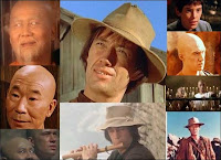 David carradine et les autres vedettes de la série Kung-Fu. Document Warner Home Video.