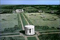 Le cimetière militaire d'Omaha Beach près de Caen.