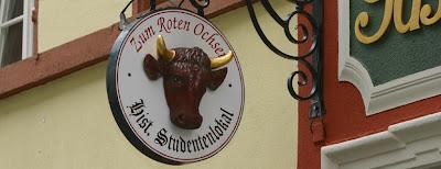 The Roter Ochse, Heidelberg - signage