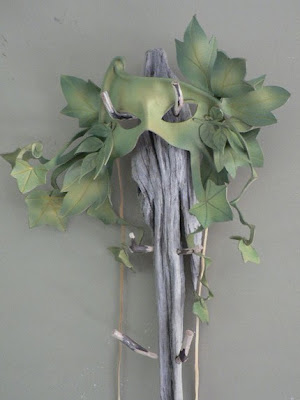 ivy fairy mask in leather from faerywhere