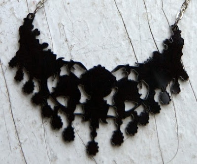 graphic victoriana style necklace by marmod