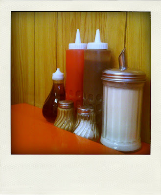 popular greasy spoon cafe with 70's decor faringdon london