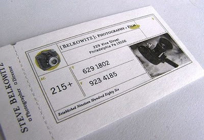 cinema film strip business card, very original