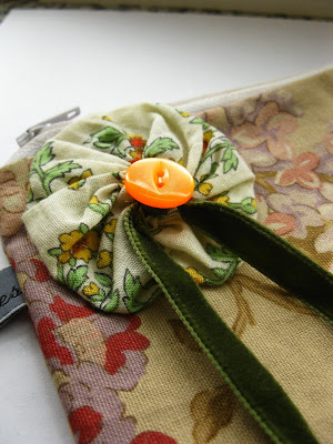 handmade floral purse by lost in the forest