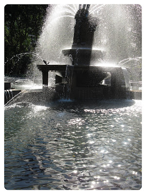 water fountain at hyde park in sydney