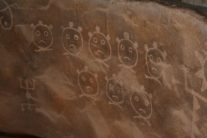 PETROGLYPHS ARE ABUNDANT IN OUR AREA MOUNTAINS