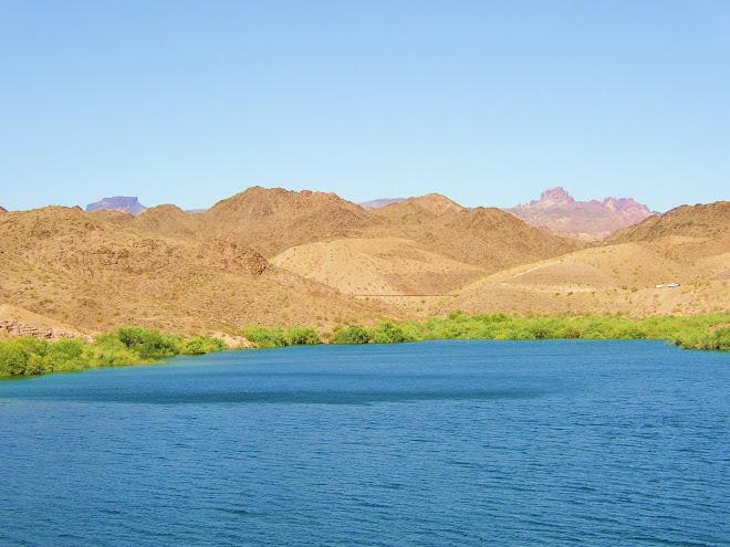 THE LAKE AT DAVIS DAM - AZ.