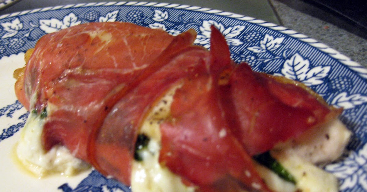 Simply Satisfying: Prosciutto Wrapped Chicken stuffed with ...