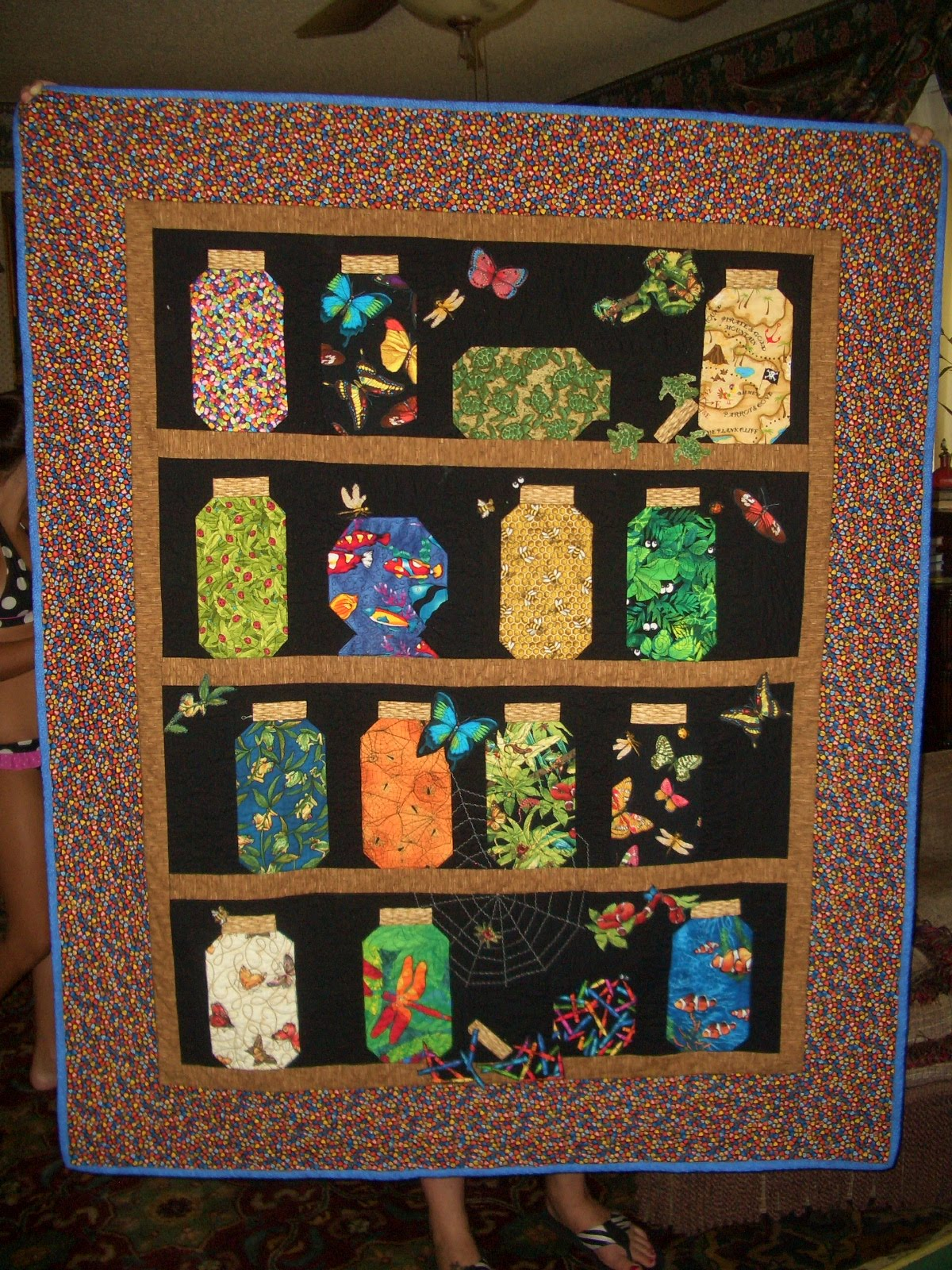 Colleen S Quot Quilting Journey To Oz Quot Another Bug Jar Quilt