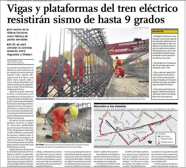 Metro de lima horizonte 2025 vigas y plataformas del - Vigas de tren ...