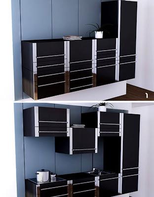 modular modern kitchen cabinet