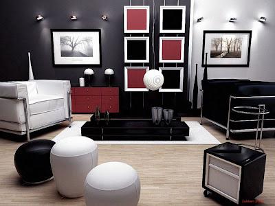Black And Red Interior Design Decorating
