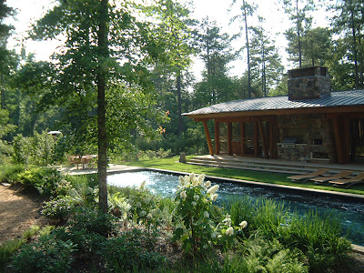 Modest Modern Stone House Landscape