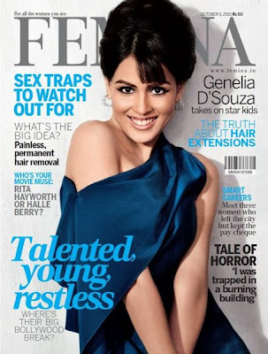 INDIAN ACTRESS GENELIA D'SOUZA ON FEMINA MAGAZINE COVER OCTOBER 2010