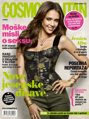 JESSICA ALBA ON COSMOPOLITAN MAG COVER OCTOBER 2010