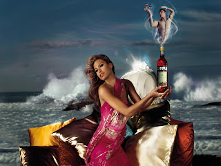 Eva Mendes Campari Calendar Photoshoot Picture