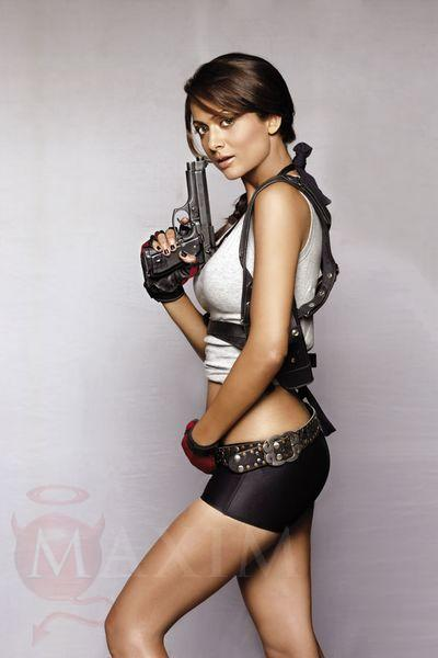 Sexy Amrita Arora Photo Shooting With Guns