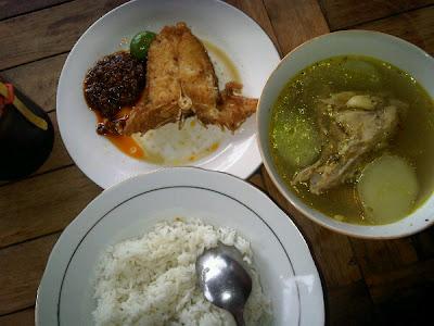 Nasi + Sop Kepala Ikan Mak Beng
