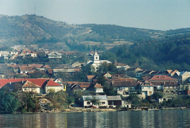 Coronini Villiage, Romania, on the Danube River