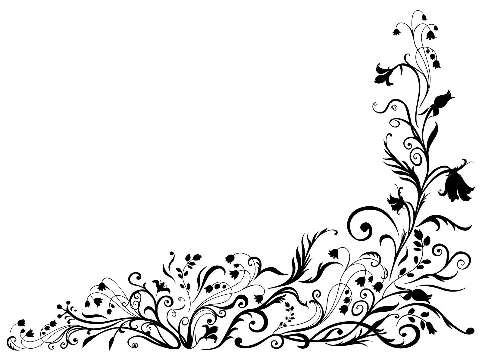 Black Floral Designs Patterns