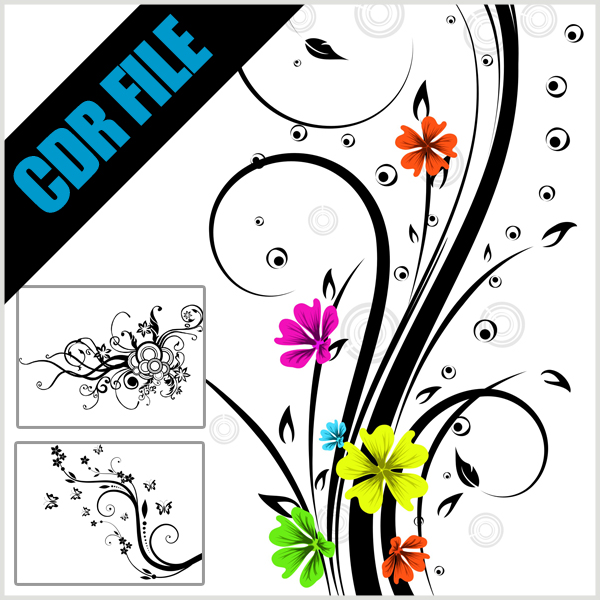 Category: CorelDRAW , Download CDR , Floral , Vector